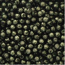 "10 Forest Green Fancy Round Blown Glass Beads .5"" ~ Czech Republic"