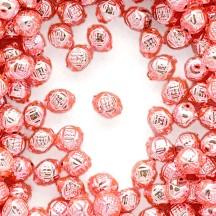 """10 Light Pink Fancy Round Blown Glass Beads .5"""" ~ Czech Republic"""