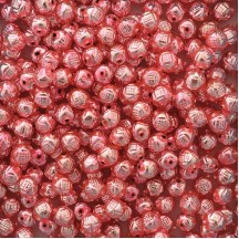 "10 Light Pink Fancy Round Blown Glass Beads .5"" ~ Czech Republic"