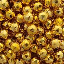 6 Gold Faceted Ball Blown Glass Beads 18mm ~ Czech Republic