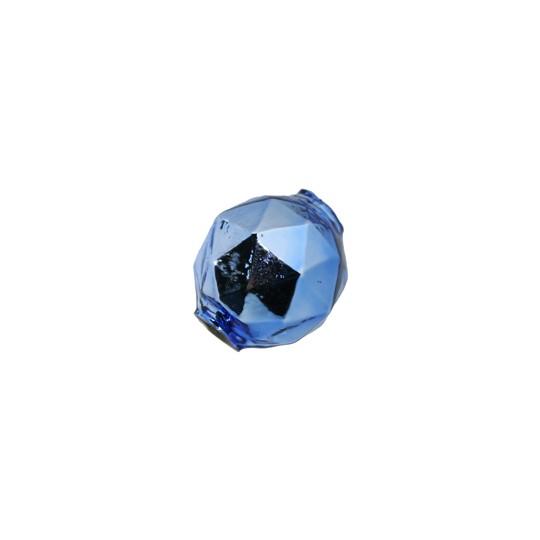 6 Light Blue Faceted Ball Blown Glass Beads 18mm ~ Czech Republic