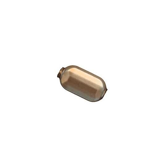 """6 Matte Cocoa Emerald Cut Blown Glass Beads .875"""" ~ Czech Republic"""