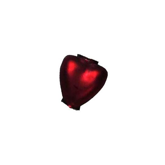 """7 Matte Burgundy Heart Blown Glass Beads .625"""" ~ Czech Republic"""