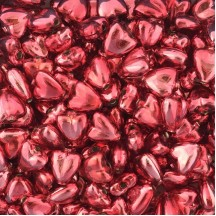 "7 Pink Heart Blown Glass Beads .625"" ~ Czech Republic"