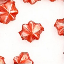6 Pearl Coral 14mm Star Starburst Blown Glass Garland Beads