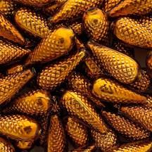 "3 Large Brown Pine Cone Beads 1.75"" ~ Czech Republic"