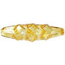 "6 Clear Yellow Diamond Drop Glass Beads 1.25"" ~ Czech Republic"
