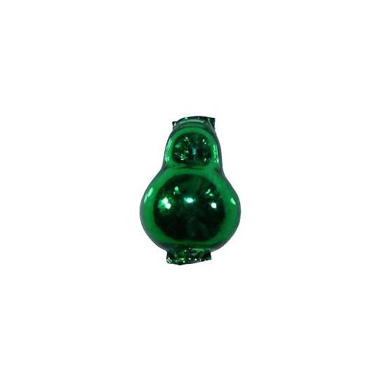 """3 Green Blown Glass Pear Beads 1-1/8"""" ~ Czech Republic"""