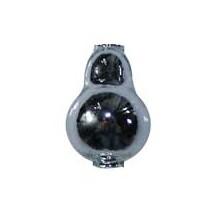 "3 Silver Blown Glass Pear Beads 1-1/8"" ~ Czech Republic"