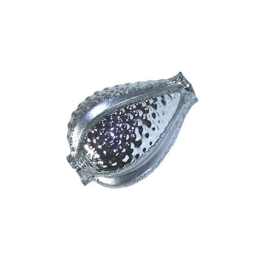 "2 Extra Large Fancy Silver Walnut Beads 1-1/2"" ~ Czech Republic"