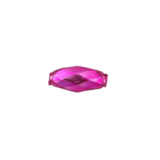 """7 Hot Pink Faceted Beads 1"""" ~ Czech Republic"""