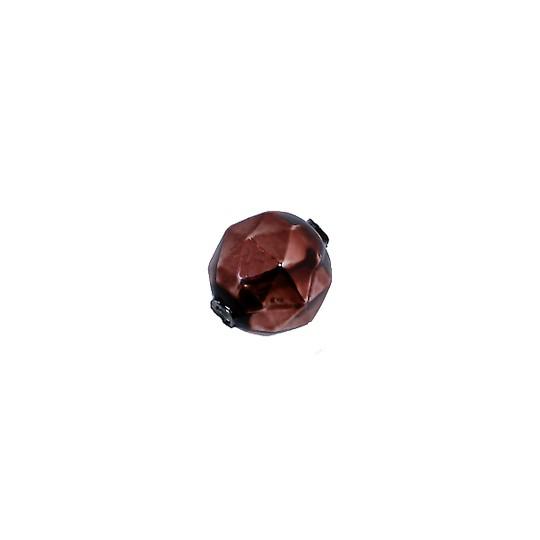 8 Brown Faceted Ball Blown Glass Beads 13mm ~ Czech Republic