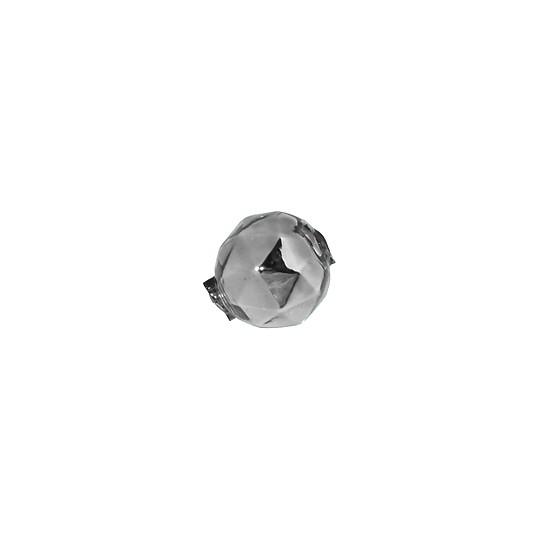 9 Silver Faceted Ball Blown Glass Beads 13mm ~ Czech Republic