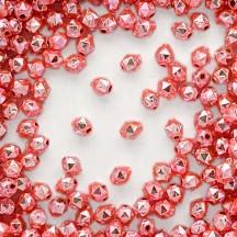 15 Light Pink Faceted Ball Blown Glass Beads 8mm ~ Czech Republic
