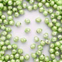 15 Pearl Green Faceted Ball Blown Glass Beads 8mm ~ Czech Republic