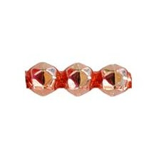 10 Copper Faceted 3-Bump Blown Glass Beads 8mm ~ Czech Republic