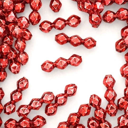 10 Pink Faceted 3-Bump Blown Glass Beads 8mm ~ Czech Republic