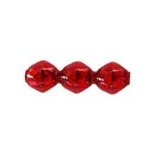 10 Red Faceted 3-Bump Blown Glass Beads 8mm ~ Czech Republic
