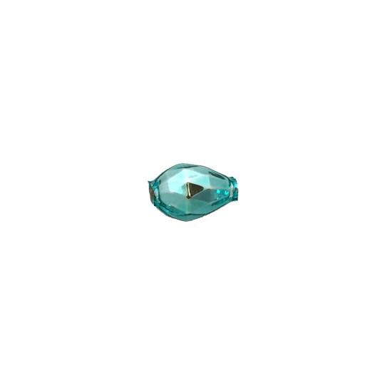 10 Aqua Faceted Drop Glass Beads 14mm ~ Czech Republic