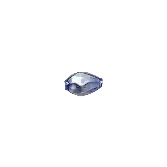10 Light Blue Faceted Drop Glass Beads 14mm ~ Czech Republic