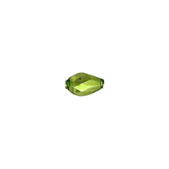 10 Green Faceted Drop Glass Beads 14mm ~ Czech Republic