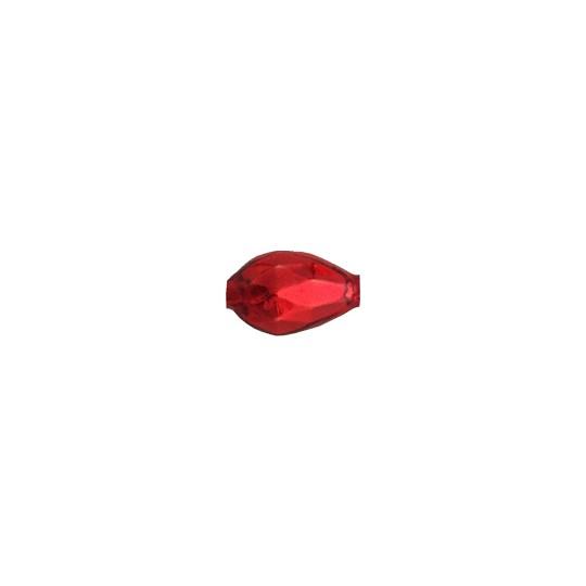10 Red Faceted Drop Glass Beads 14mm ~ Czech Republic