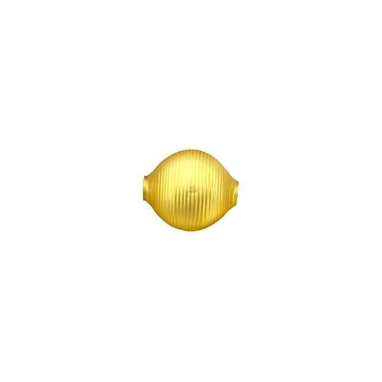 """3 Matte Yellow Large Striped Round Beads 1"""" ~ 24 mm ~ Czech Republic"""