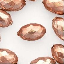"2 Pearl Rose Pink XL Faceted Glass Garland Beads 1-3/8"" ~ Czech Republic"