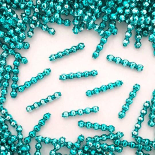 24 Aqua Blown Glass Faceted 5 Bump Tube Beads 4 mm ~ Czech Republic