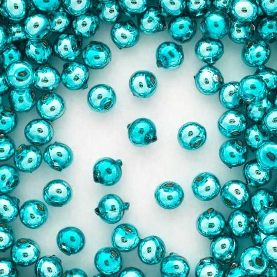 15 Aqua Round Glass Beads 10 mm ~ Czech Republic