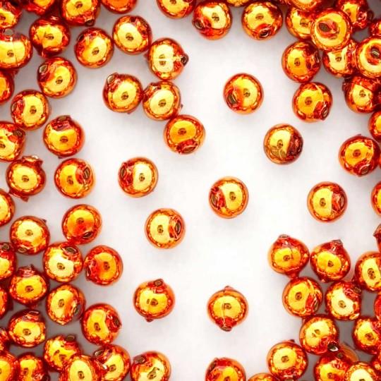 15 Copper Round Glass Beads 10 mm ~ Czech Republic