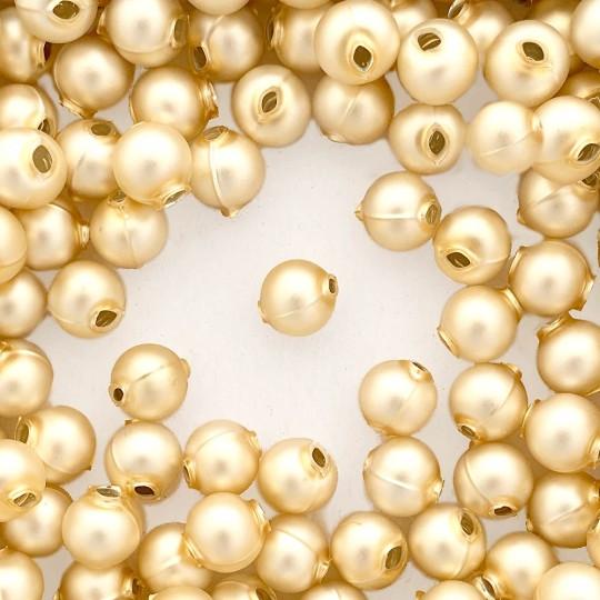 12 Matte Champagne Round Glass Beads 12 mm ~ Czech Republic