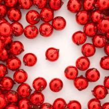 12 Red Round Glass Beads 12 mm ~ Czech Republic