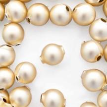 8 Matte Champagne Round Glass Beads 18 mm ~ Czech Republic