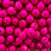 8 Matte Hot Pink Round Glass Beads 18 mm ~ Czech Republic
