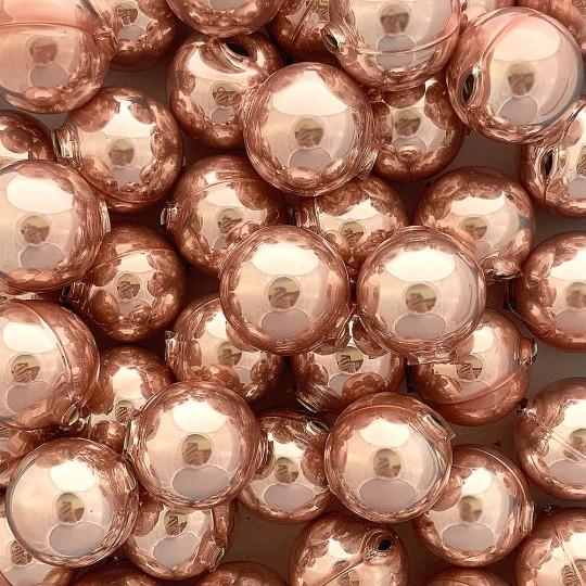 2 Pearl Rose Pink XL Round Glass Beads 25 mm ~ Czech Republic