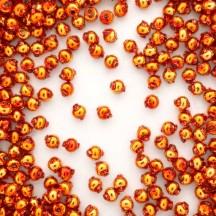 30 Copper Round Glass Beads 6 mm ~ Czech Republic