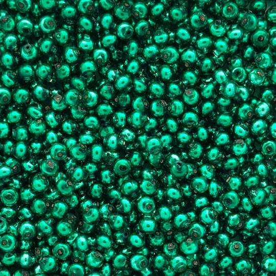 30 Green Round Glass Beads 6 mm ~ Czech Republic
