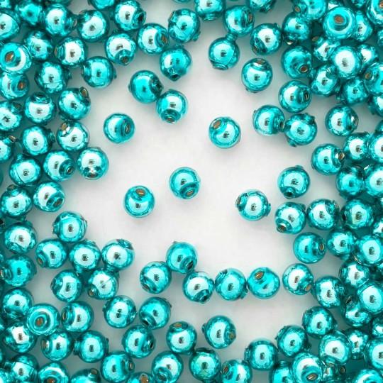 30 Aqua Round Glass Beads 8 mm ~ Czech Republic