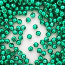 30 Green Round Glass Beads 8 mm ~ Czech Republic