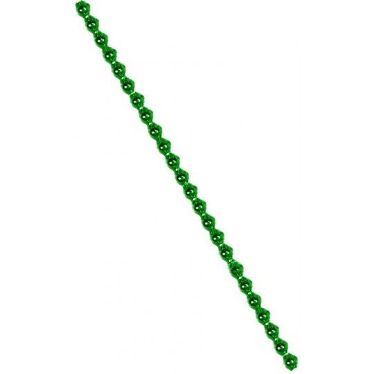 3 Blown Glass Green Faceted Bead Sticks ~ 5 mm Bumps ~ Czech Republic