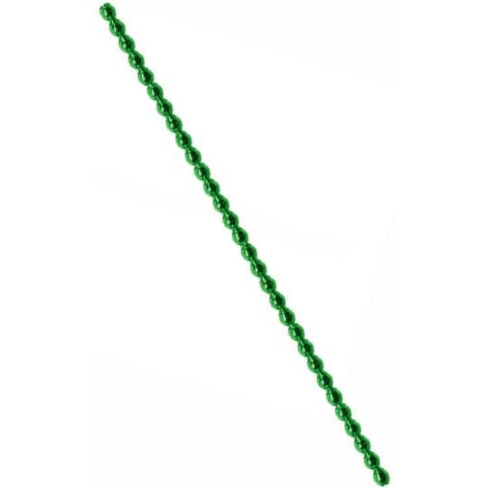 3 Blown Glass Green Faceted Bead Sticks ~ 4 mm Bumps ~ Czech Republic