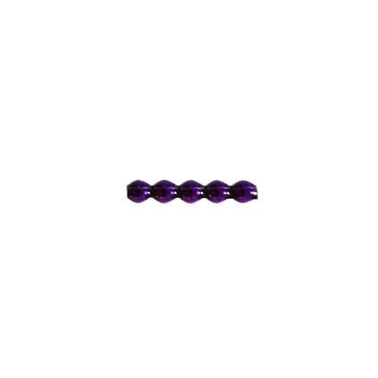 24 Purple Blown Glass Faceted 5 Bump Tube Beads 4 mm ~ Czech Republic