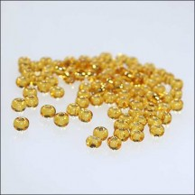 100 Amber Glass Spacer Beads ~ Czech Republic