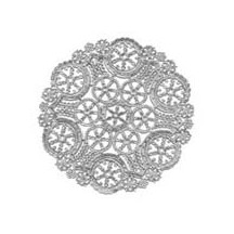 4 Small Fancy Silver Doilies ~ 4""