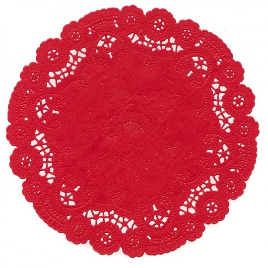 10 Fancy Red Doilies ~ 6""