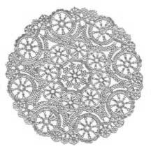 4 Fancy Silver Doilies ~ 6""