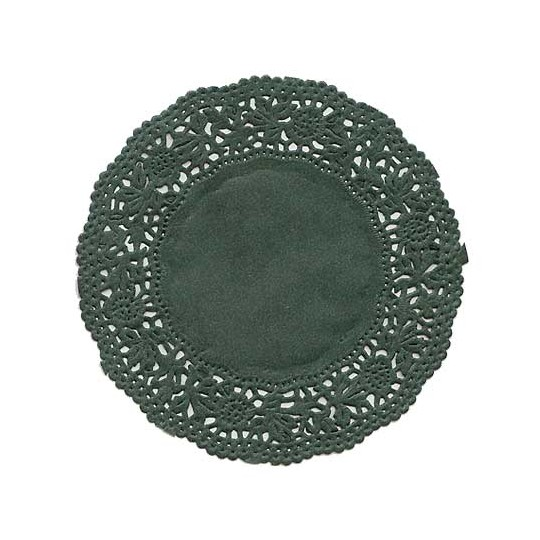 10 Small Green Rose Doilies ~ Germany ~ 4""