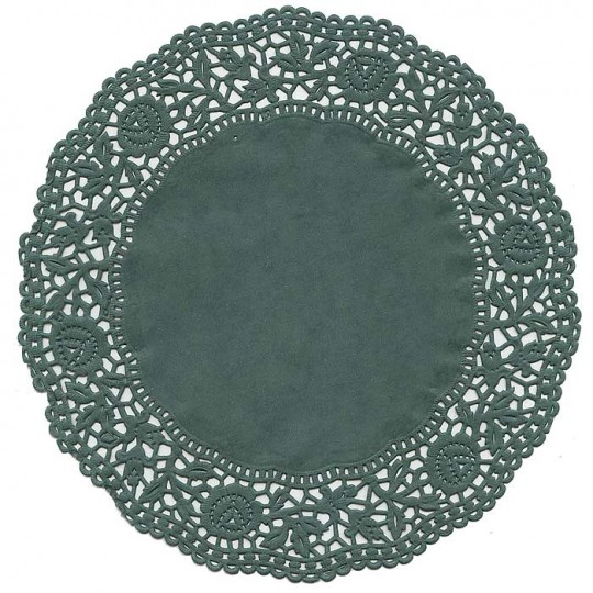 10 Green Rose Doilies ~ Germany ~ 6""