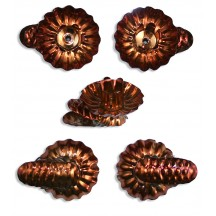 10 Forest Brown Classic Pine Cone Candle Clips ~ Made in Germany
